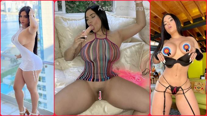 Ashley Carolina mostrando su panochita peluda pack y vídeos